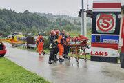 Poľskí záchranári v akcii.