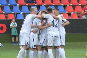 Futbalisti FC ViOn Zlaté Moravce-Vráble.