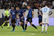 Zápas medzi Ferrara a Atalanta.