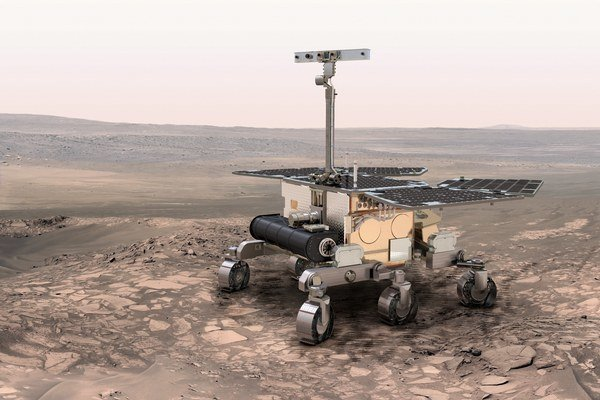 Vizualizácia roveru ExoMars.