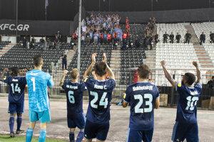 Momentka zo zápase PAOK Solún - ŠK Slovan Bratislava.