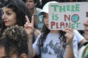 Klimatický protest.