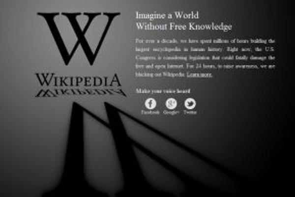 Takto vyzerala v stredu hlavná stránka Wikipédie.