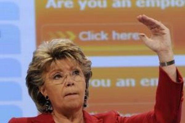 Eurokomisárka Redingová.