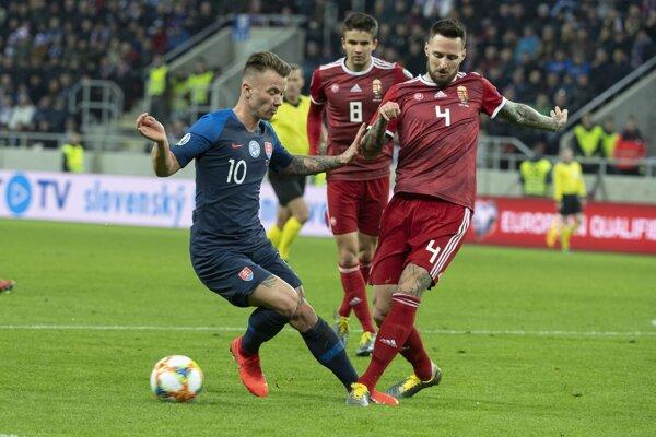 Maďarov v marci na svojej pôde Slováci zdolali 2:0. V odvete v Budapešti ich ľahký zápas opäť nečaká.