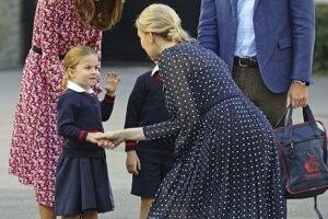 Princeznú privítala riaditeľka školy Helen Haslemová.