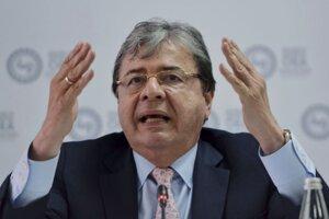 Kolumbijský minister zahraničných vecí Carlos Holmes Trujillo.
