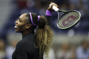 Serena Williamsová na US Open 2019.