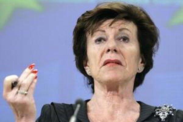 Eurokomisárka Neelie Krösová.