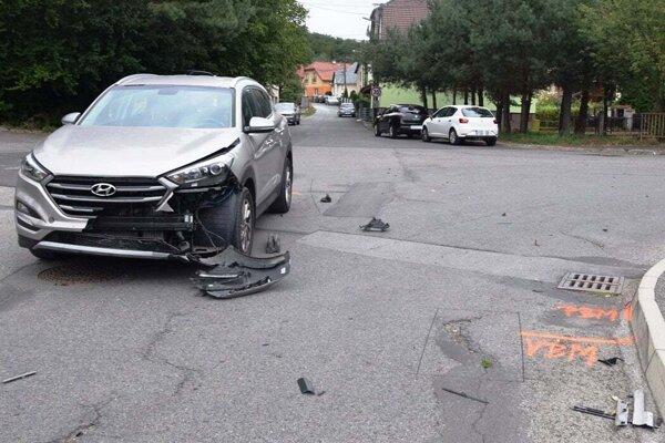 Dopravná nehoda vo Vranove nad Topľou.