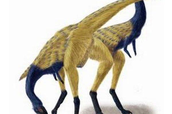 Umelecká vízia jedincov novoobjaveného dinosaura Limusaurus inextricabilis. Nájdené fosílie však neposkytli nijaké priame dôkazy štruktúr, ktoré by pripomínali operenie.