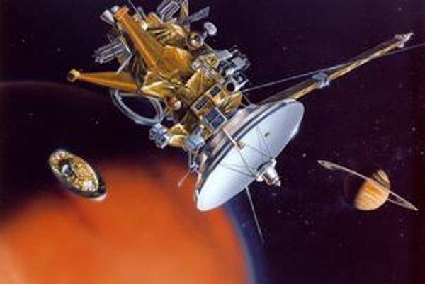 Sonda Cassini podľa predstáv umelca.