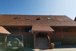 Reštaurácia v Prakovciach, kde sa chceli Rómovia naobedovať.
