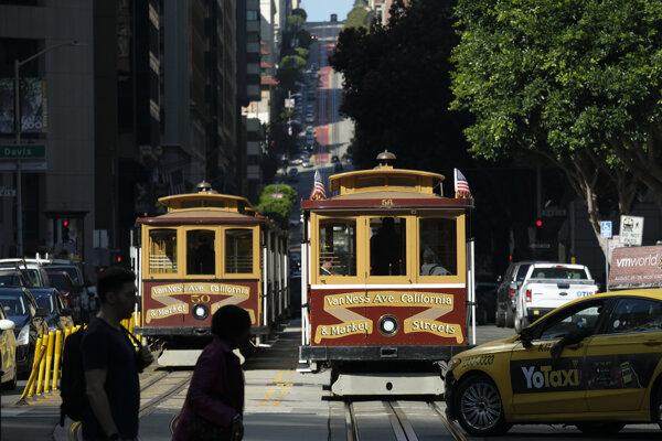 Lanovky v San Franciscu.