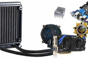 Najdrahšia konfigurácia je zložená z prémiových produktov spoločnosti MSI a vodného chladenia od Cooler Master.