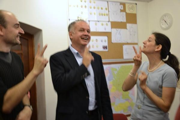 s prezidentom slovenskej republiky andrejom kiskom