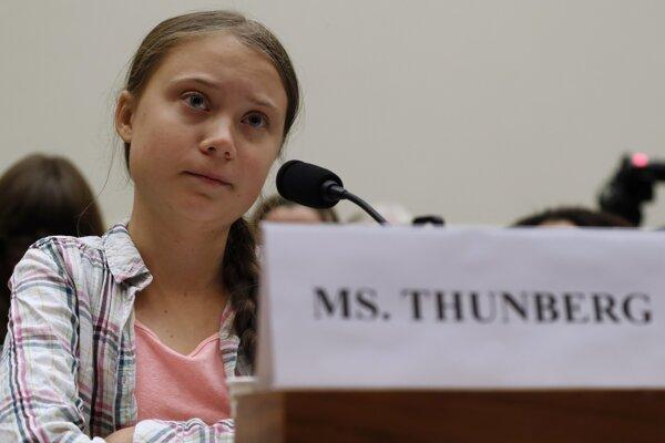 Švédska aktivistka za ochranu životného prostredia Greta Thunbergová.