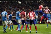 Zápas medzi Juventusom Turín a Atleticom Madrid.