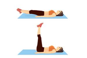 Ležíte na chrbte. Stabilizujete sa rukami, uložené sú pozdĺž tela alebo pod zadkom. Dlane smerujú k zemi. Nohy dvíhajte a spúšťajte čo najpomalšie. Päty pri klesaní nikdy nepoložte úplne na zem. Čím nižšie klesnete s nohami, tým väčšiemu odporu čelí spodná časť brušných svalov. Kríže sa musia dotýkať zeme, nohy sú v kolenách mierne ohnuté. Výdych je pri dvíhaní nôh, nádych počas spúšťania.
