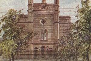 Zaniknutá synagóga na dnešnej Moyzesovej ulici.
