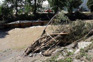 Následky povodne z 15. augusta 2010 v Prievidzi.