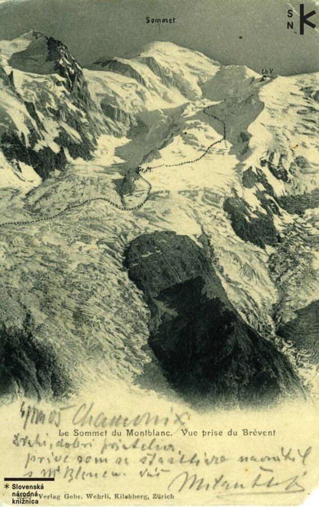 Generál netušil, že Chamonix, odkiaľ posielal pohľadnicu po zdolaní Mont Blancu, sa v roku 1924 stane dejiskom 1. novovekých zimných olympijských hier.