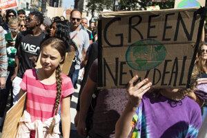 Thunbergová preniesla svoju kampaň za záchranu klímy aj do USA.