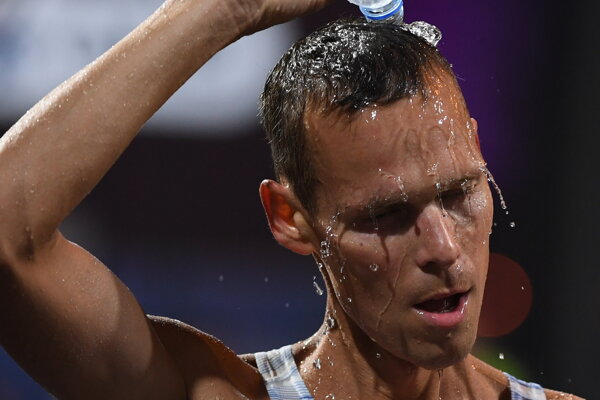 Matej Tóth počas MS v atletike 2019.