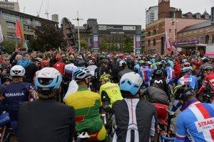 Momentka z MS v cyklistike 2019.