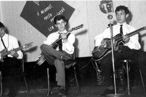 Miro Tásler st. (vpravo) v začiatkoch.