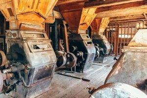 Interiér mlyna v Mojmírovciach