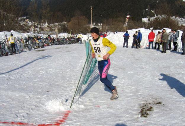 Peter Sagan v pretekoch Slovenského pohára v zimnom triatlone vo Vysokej nad kysucou vo februári 2006.