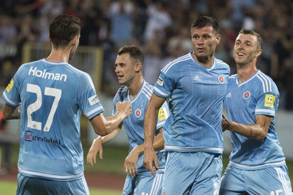 Futbalisti ŠK Slovan Bratislava - ilustračná fotografia.
