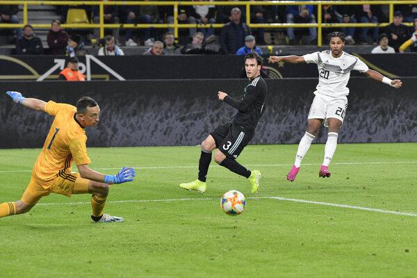 Momentka zo zápasu Nemecko - Argentína.