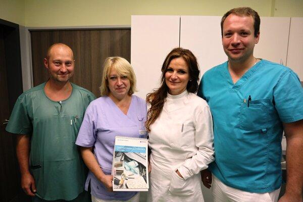 Tím žilinského ČIK centra oddelenia urológie.