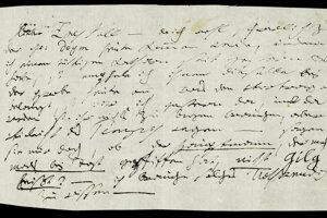 Beethovenov list Zmeškalovi.