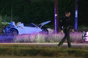 Zničené auto Errola Spenca.