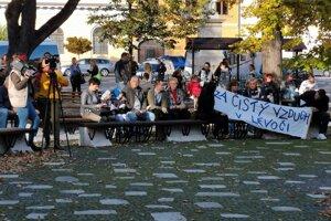 Iniciatíva Za čistý vzduch v Levoči.