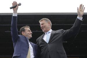 Orban a rumunský prezident Klaus Iohannis.
