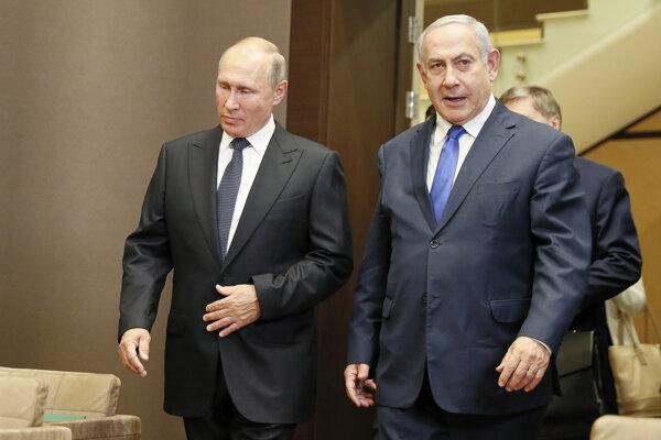 Vladimir Putin a izraelský premiér Benjamin Netanjahu.