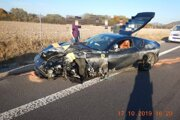 Vodič neprispôsobil rýchlosť jazdy.