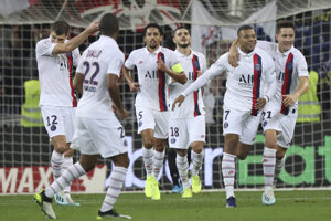 Futbalisti Paríž St. Germain.