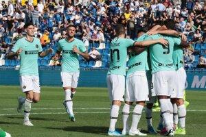 Radosť hráčov Interu Miláno.