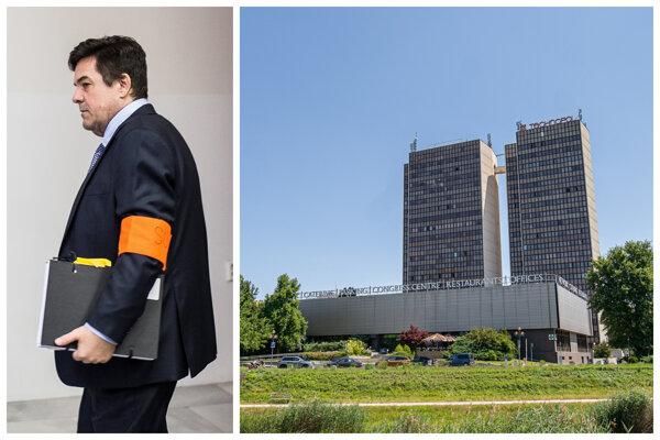 Marian Kočner na súde v kauze falšovania zmeniek TV Markíza a kancelársky dvojvežiek a kongresové centrum Technopol v Bratislave.