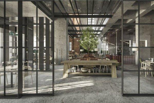 Návrh reštaurácie v Jurkovičovej teplárni, s ktorým bude Medusa ešte pracovať.
