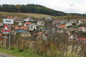 Spišská obec Poráč. V čase najväčšieho rozkvetu baníctva v baniach pracovalo 60 percent obyvateľstva.