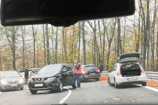 Aktuálne foto z nehody.