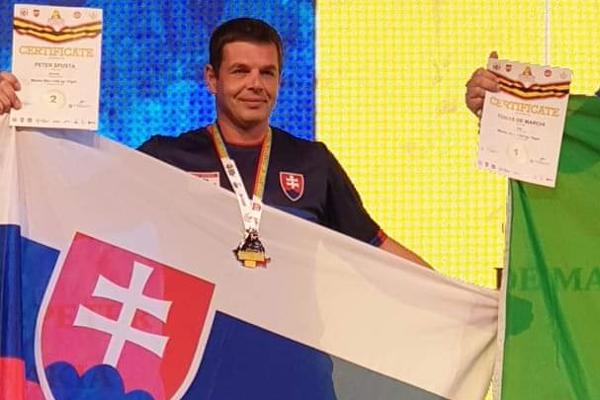 Peter Spusta získal na MS striebornú medailu.