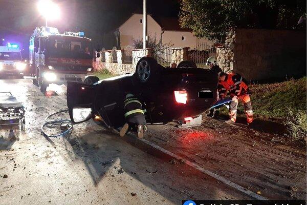 Nehoda v obci Kunov