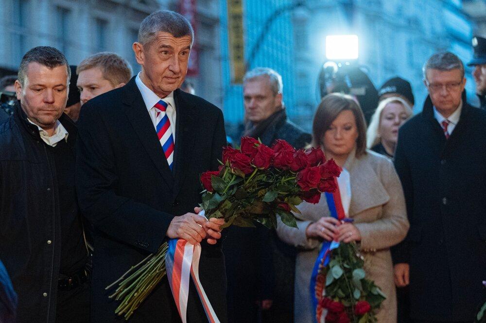 Andrej Babiš na Národní tříde.